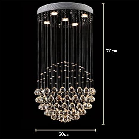 CUICAN Lámpara circular Colgando Cristal Lámparas de techo ...