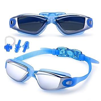 85fd508d11 Feilan Gafas de natación,Gafas para Nadar Antiempañado y Anti Rayos UV para  Hombres Mujeres