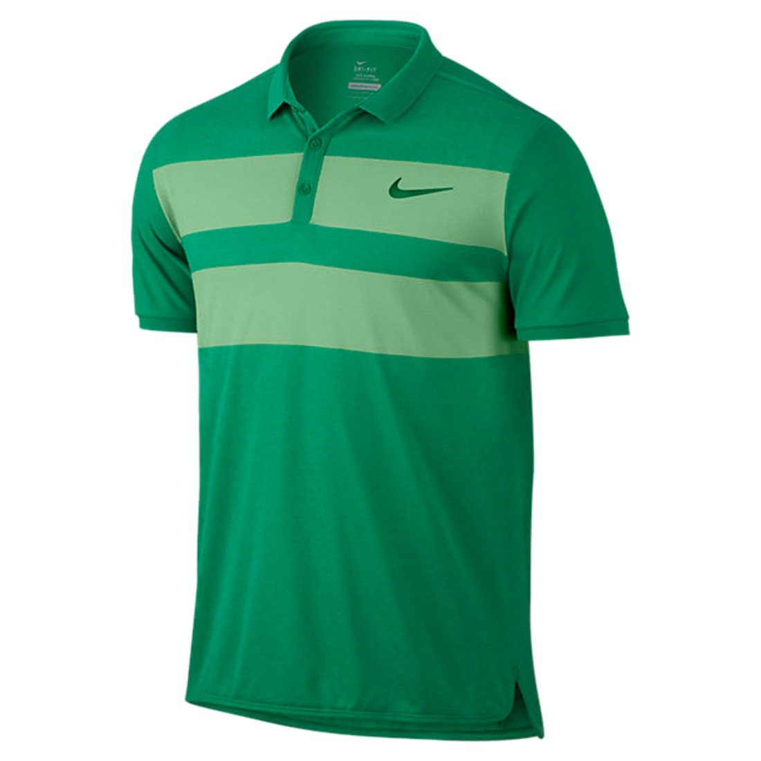 Nike Advanced Cool Tenis Polo, Color Lucid Green/Pine Green ...
