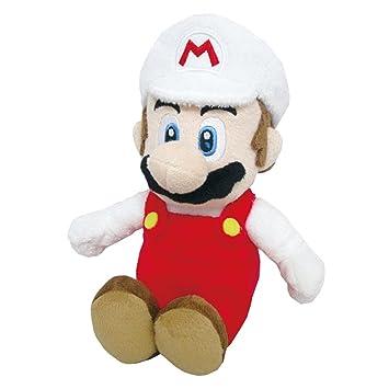 Nintendo Super Mario jakkninplushfiremario2018 mundo de fuego, 15 cm de peluche – con licencia oficial