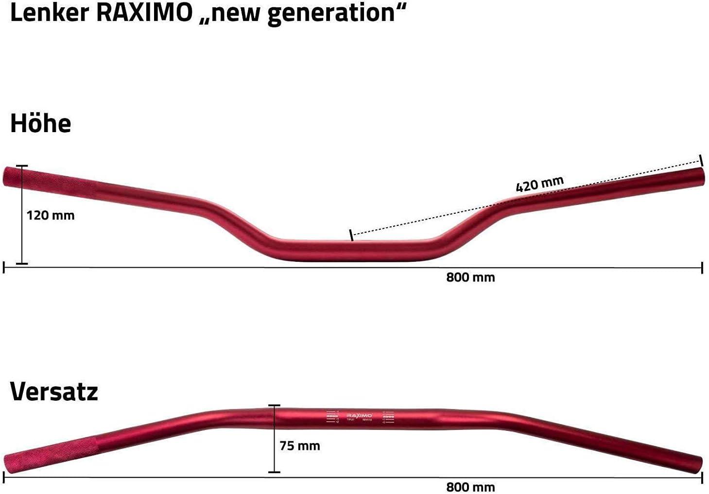 Alu Lenker New Generation 28mm konisch mit ABE Raximo schwarz