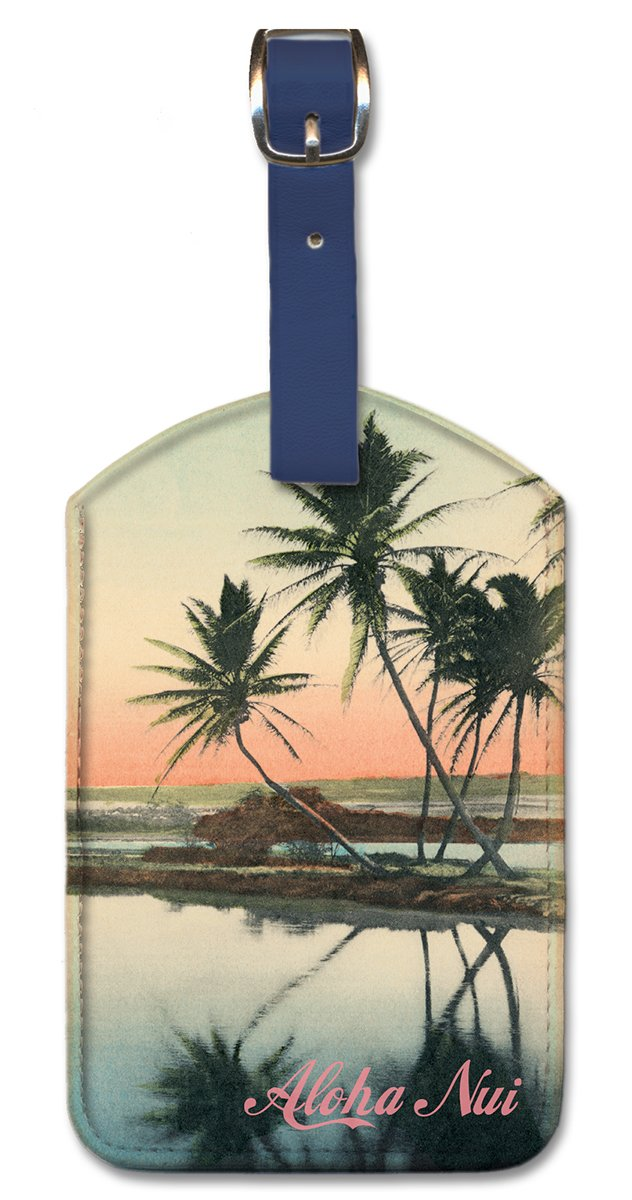 Pacifica Island Art Leatherette Luggage Baggage Tag Aloha Nui