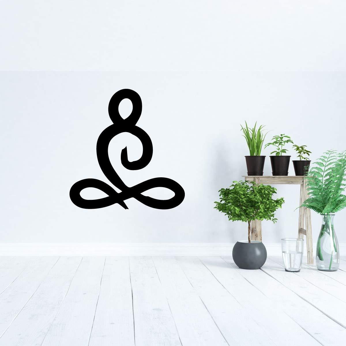 Yoga Room Decor Vinyl Wall Decal   Yogi Meditation Decoration for Living Room, Bedroom at Home or Fitness Studio