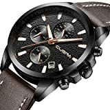 Men's Casual Sport Chronograph Wrist Watch Analog Quartz Watch with Date