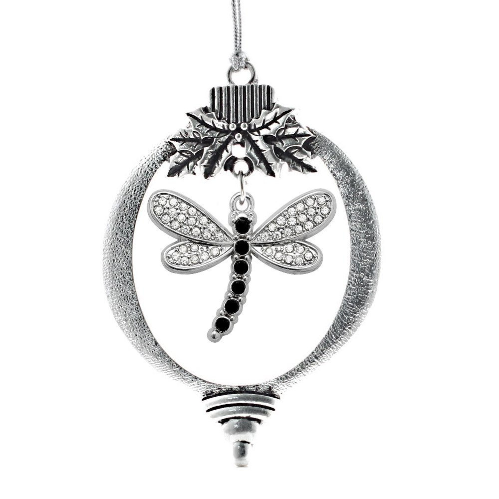 NEW CLASSIC VINTAGE FAIRY /& DRAGONFLY w PINK CRYSTAL GEM PEWTER PENDANT NECKLACE
