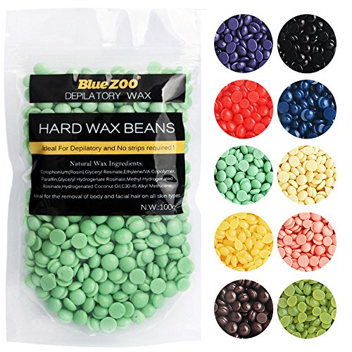 BlueZoo 100g Different Smell Depilatory Pearl Hard Wax Brazilian Granules Hot Film Wax Bead For Hair Removal By Perman (Strawberry smell, (Blue Zoo)