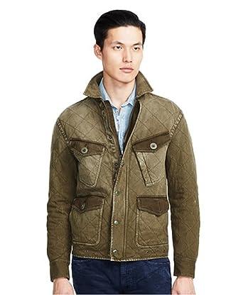 Polo Ralph Lauren Quilted Jersey Jacket (Defender Green) Large at ... : ralph lauren jacket quilted - Adamdwight.com