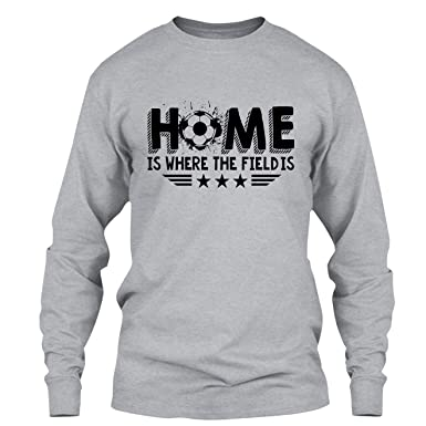 Amazon.com: Elido Store Soccer T Shirt - Home is Where The Field is ...