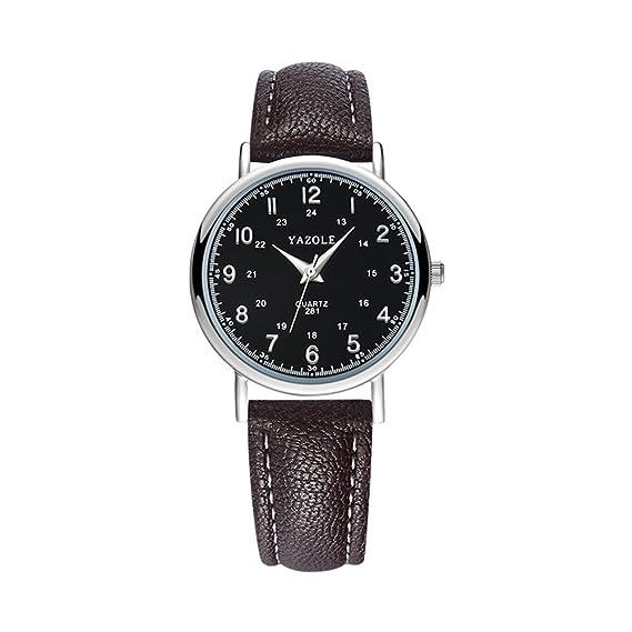 Reloj de cuarzo para hombre, reloj de pulsera analógico digital árabe clásico, esfera ultra