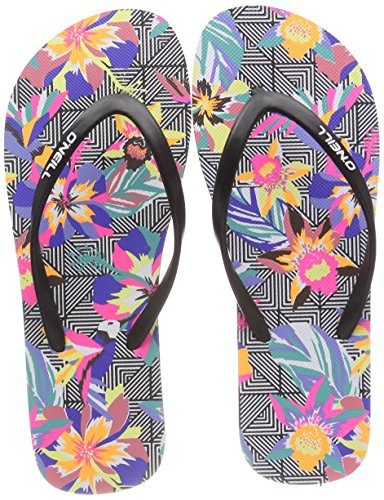 Femme Schwarz Pink Tongs Black Fw 9945 Flip Tropadelic Flops Graphic O'Neill Print Small xwYT0AAq