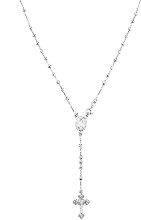 Rosary-type necklace with pendants and CIN CIN writing