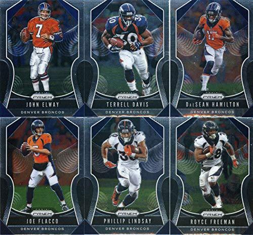 2019 Panini Prizm Football Denver Broncos Veteran Team Set of 11 Cards: Chris Harris Jr.(#113), Courtland Sutton(#199), Emmanuel Sanders(#200), DaeSean Hamilton(#201), Joe Flacco(#202), Phillip Lindsay(#203), Royce Freeman(#204), Bradley Chubb(#205), Von Miller(#206), John Elway(#290), Terrell Davis(#291)