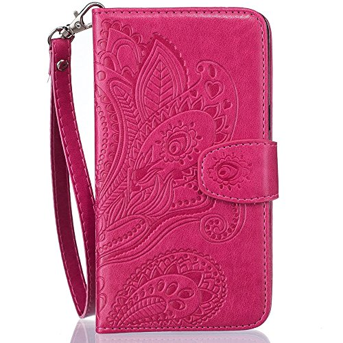 Defunct Rose Faux Leather Case with Handy Strap for iPhone 7