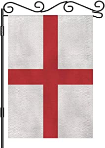 AOYEGO England Flag Small Garden Flag Vertical Double Sided 12.5 x 18 Inch Britain Emblem Europe Country Farmhouse Burlap Yard Outdoor Decor