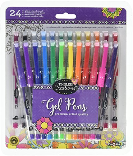 Cra-Z-Art Timeless Creations Adult Coloring: 24ct Gel Pens (16281PDQ-24) by Cra-Z-Art