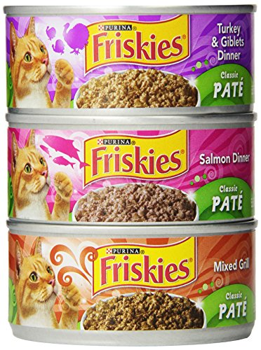 Friskies Wet Cat Food Classic Pate 3-Flavor Variety Pack 5.5-Ounce Can Pack of 24