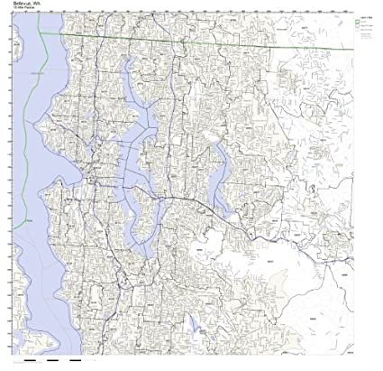 Amazon Com Bellevue Wa Zip Code Map Not Laminated Home Kitchen