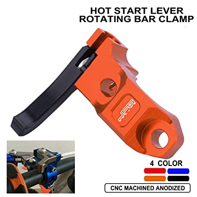 Hot Start Lever Rotating Bar Clamp For Honda CR CRF XR Kawasaki KDX KLX KX Suzuki DRZ RM Yamaha TTR WR YZ Motorcycle Orange: Automotive