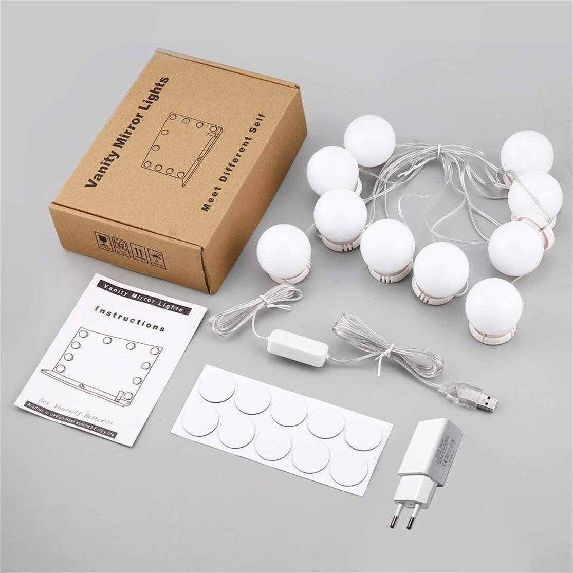Candybarbar Espejo de Maquillaje Vanidad Bombillas LED Puerto de Carga USB Cosm/ético Iluminado Espejos de Maquillaje Bombilla con alimentaci/ón UL