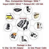 S2S Car Charger Cigarette Lighter Socket 220V AC to 12V DC Power Converter Adapter Inverter 8A 90 Watts Household
