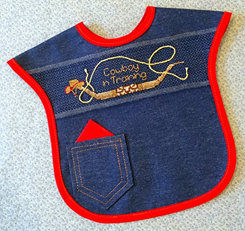 - Cowboy in Training Bib by Stitchin' Post Creations Counted Cross Stitch Kit