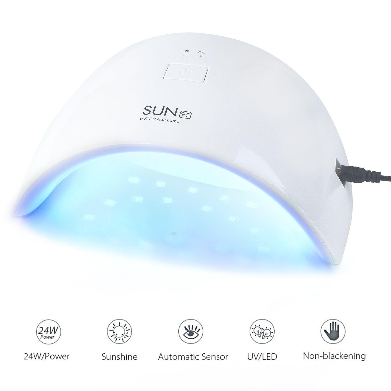 UV Nail Lamp, 24W LED UV Nail Dryer Light for Fingernail & Toenail Gels Based Polishes, UV Gel Nail Art Lamp With Sensor ACELIST