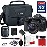 Canon EOS 80D DSLR Camera w/EF-S 18-55mm f/3.5-5.6 IS STM Lens + 32GB Memory + Canon Camera Case + More