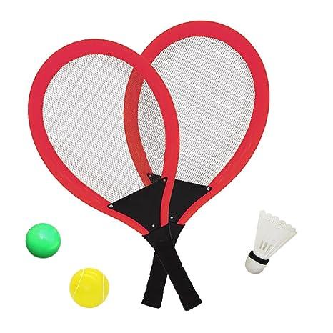 YIMORE Raquetas de Tenis Bádminton con Bolas Juguete para Niños - 3 en 1 Juego de