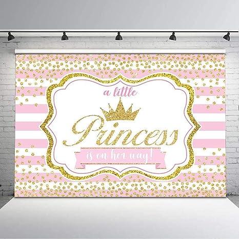 Prinzessin Babyparty Hintergrund Rosa Gestreifte Kamera