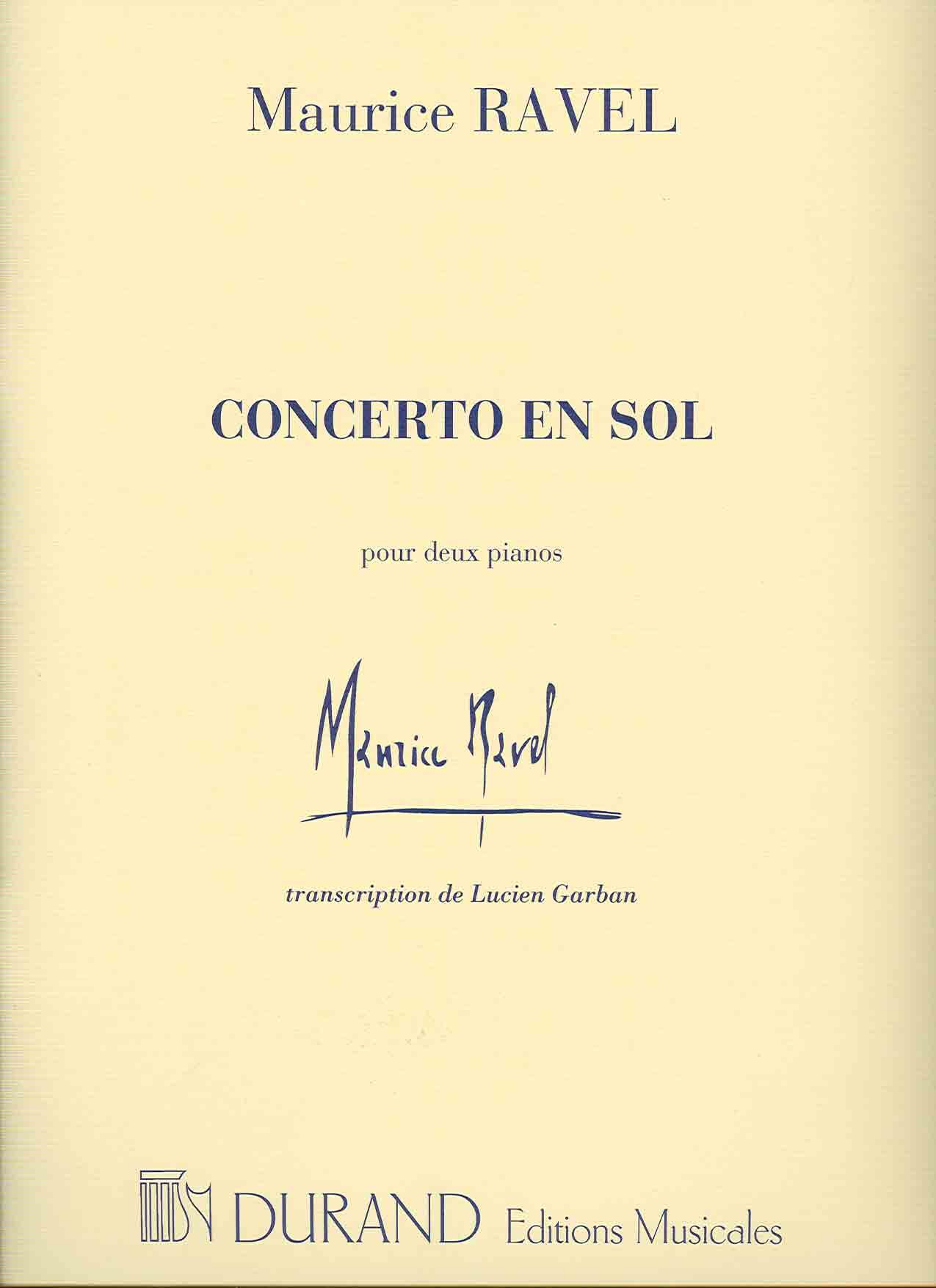 CONCERTO EN SOL PIANO: Amazon.co.uk: MAURICE RAVEL: Books