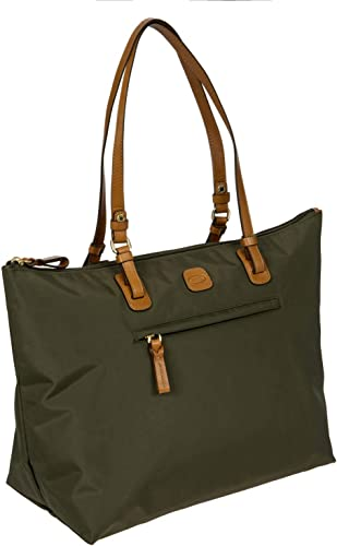 Bric s Women s x-Travel 2.0 Large Sportina Shopper Tote Bag Shoulder, Olive, One Size