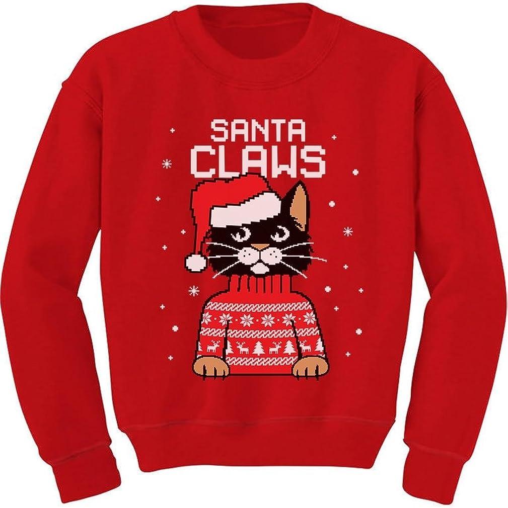 Santa Claws Cat Ugly Christmas Sweater Toddler//Kids Sweatshirts