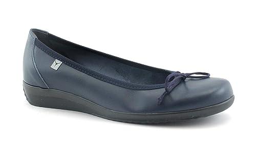 670a16f71d1607 Cinzia Soft IE7010 Blu Scarpe Donna Comfort Ballerina zeppetta Pelle ...