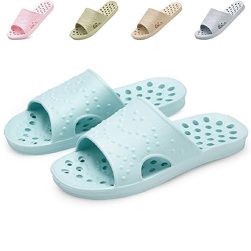 5cb7960d65b42e welltree Women s Shower Bath Slippers Non-Slip Slide Summer Soft Indoor  House Open Toe