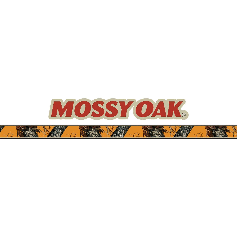 Mossy Oak Graphics 10012-BZ Blaze Mossy Oak Logo with Camouflage Pin Stripe