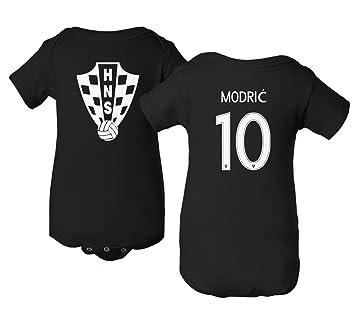 uk availability c0986 996d5 Tcamp Croatia 2018 National Soccer #10 Luka MODRIC World Championship  Little Infant Baby Short Sleeve Bodysuit