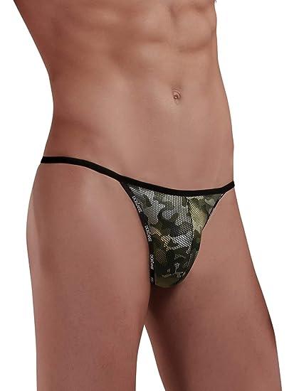 Doreanse String Tanga Herren W/äsche G-String Camouflage-Print Mens Thong