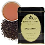 Harney & Sons Darjeeling Tea, Loose 4 oz tin, Black (46404)