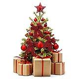 ZJHAI 5-Loop Red Buffalo Plaid Bows Christmas