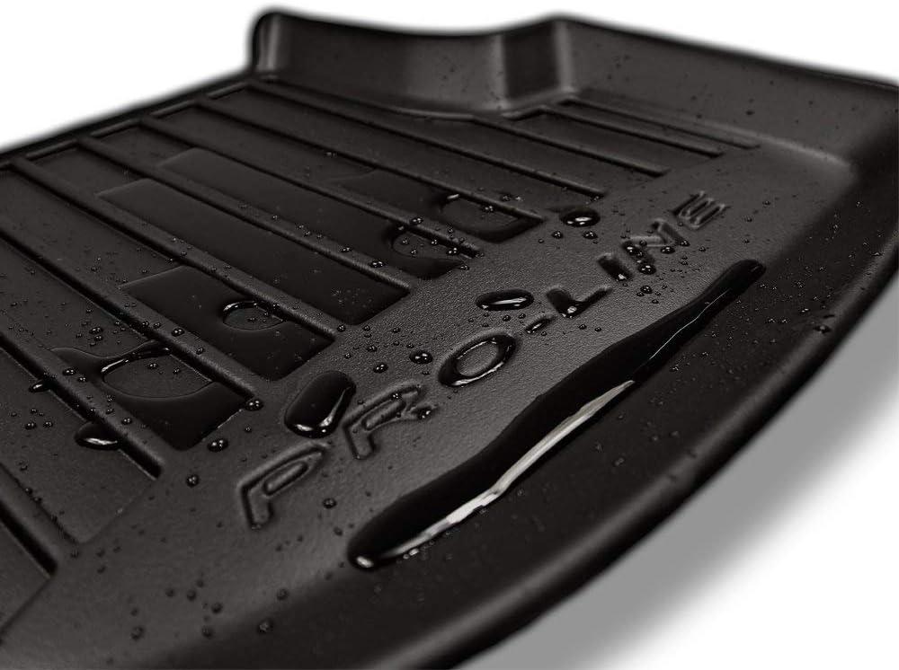 con Sistema di Fissaggio Frogum 3D407060 Set Completo di 4 tappetini 3D in Gomma per Auto Colore: Nero