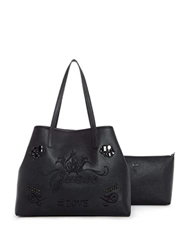 bb8a6eab7794 Guess Vikky Large Tote Black  Amazon.fr  Chaussures et Sacs