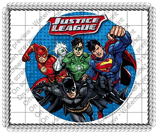 Justice League Edible Icing Image Cake Topper (6 Inch Round)]()