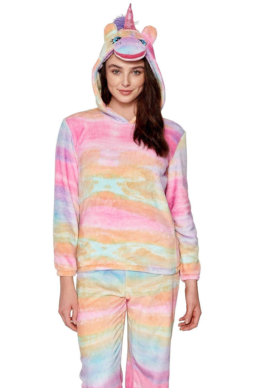 Lora Dora Womens Fleece Lounge Pants + Hooded Jumper Set  Amazon.co.uk   Clothing a7e59f14b