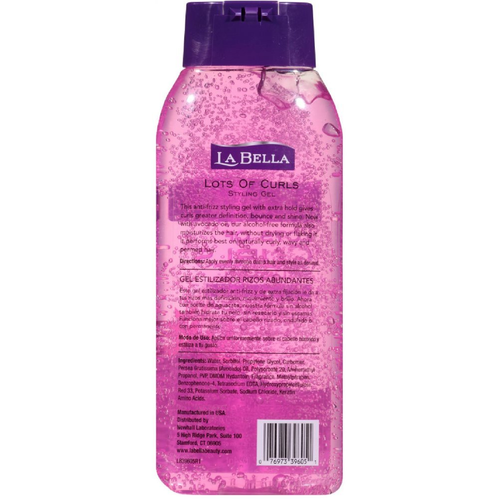 Amazon.com : La Bella Lots of Curls Hair Styling Gel Now with Avocado Oil 22 oz (Pack of 6) : Hair Styling Gels : Beauty
