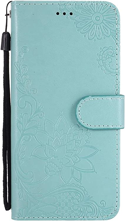Herbests Compatible with Samsung Galaxy S4 Case Emboss Flower Luxury Design Pattern Flip PU Leather Wallet Case Cover with Wrist Strap Stand Card Holder Bookstyle Magnetic,Rose Gold
