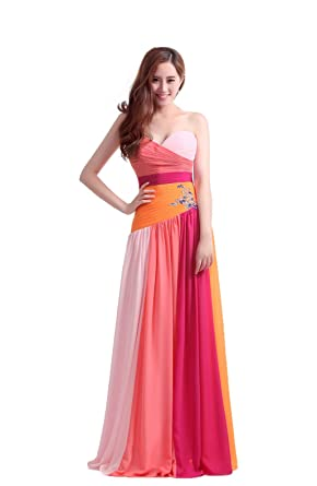 luckyservice88 Long Orange-Red Part Prom Dress Cocktail Dresses Formal Bridesmaid Gowns6