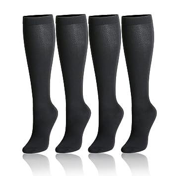 Calcetines de compresión para Mujeres y Hombres, graduados, 4 pares, 15 - 20