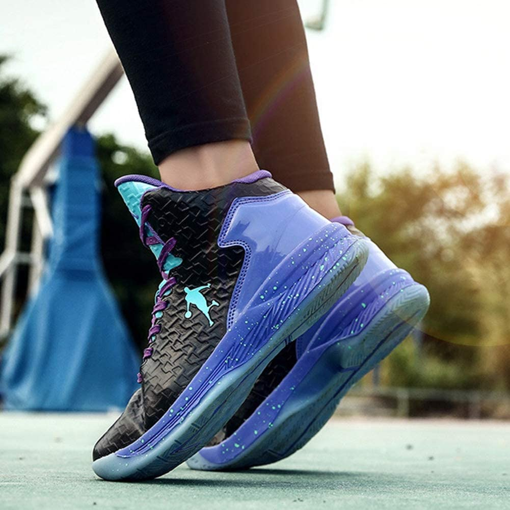 Zapatillas Altas de Baloncesto para Hombre Zapatillas Antideslizantes para j/óvenes Zapatillas Deportivas al Aire Libre Zapatillas de Deporte con Cordones y amortiguaci/ón