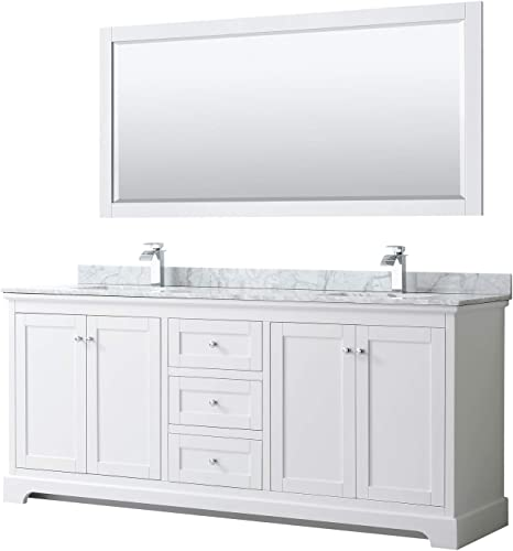 Wyndham Collection Avery 80 Inch Double Bathroom Vanity