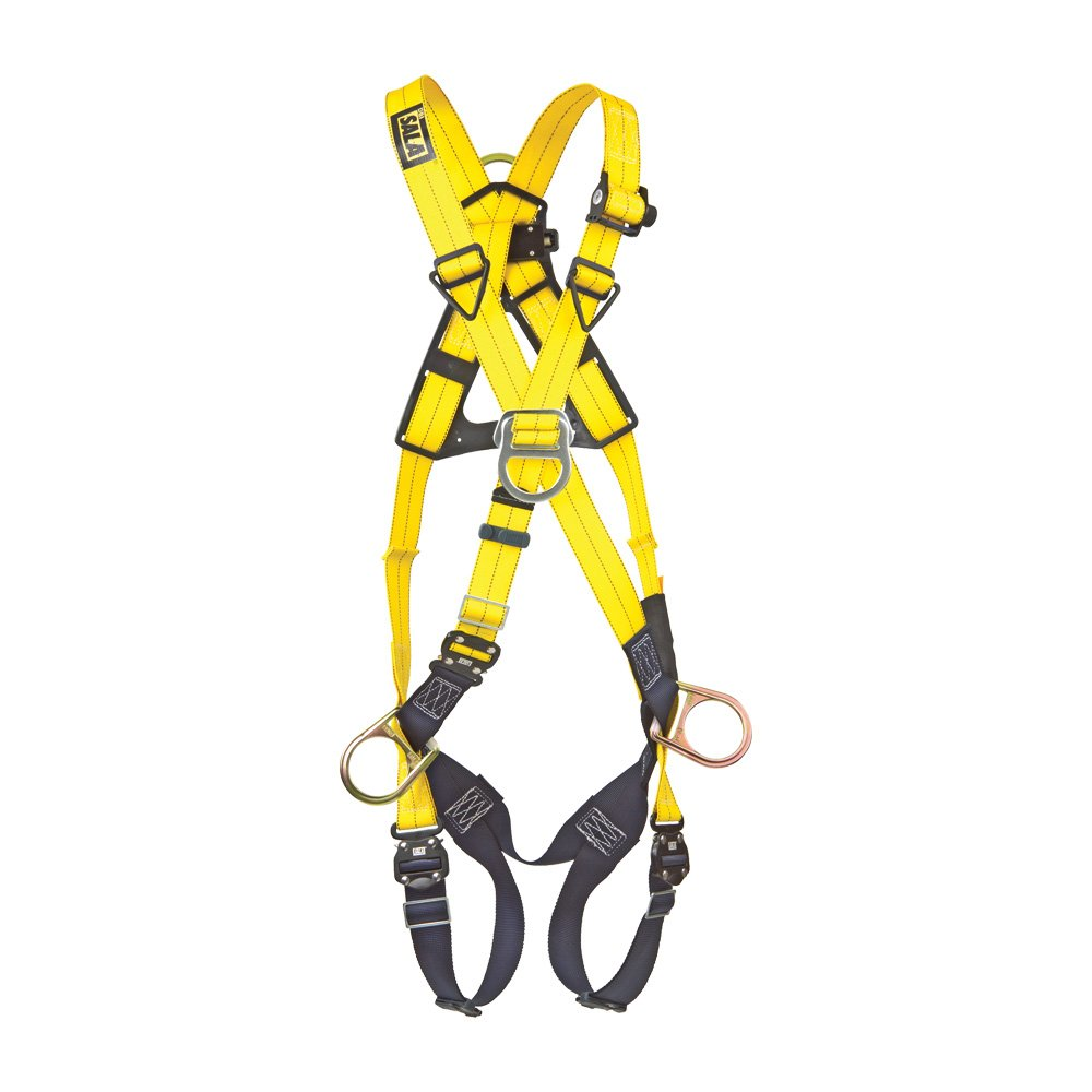 Extra Large Navy//Yellow DBI//Sala 1110727 Delta Cross-Over Style Full Body Harness